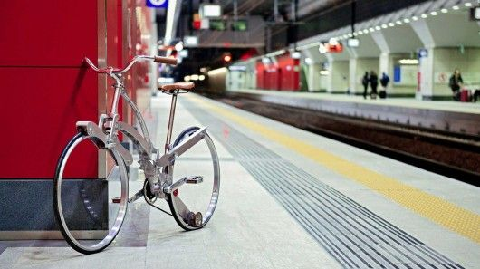 Umbrella-Shaped Folding Bicycles