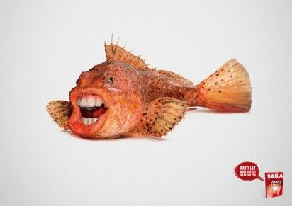 Surreally Mouthed Fish Ads