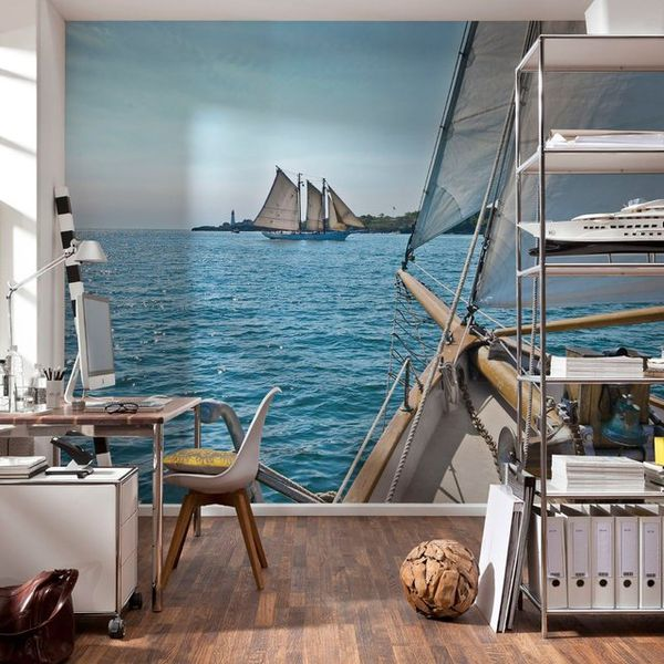 Serene Nautical Landscape Murals
