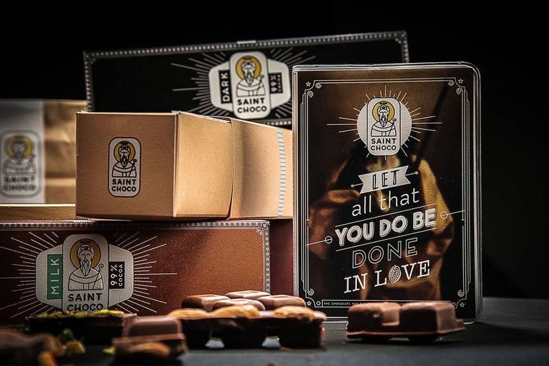 Pious Belgian Chocolate Branding