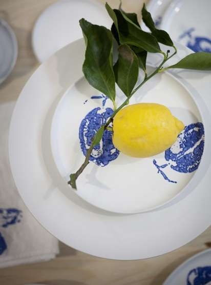 Produce-Printed Porcelain