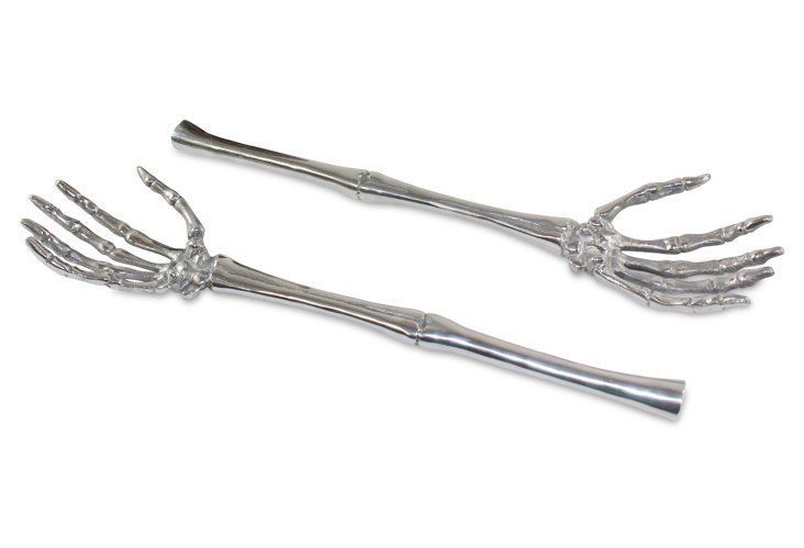 Skeletal Salad Servers
