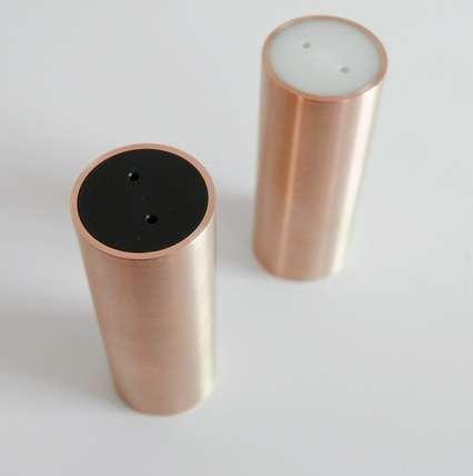 Brass Tube Spice Dispensers Salt And Pepper Shaker Design