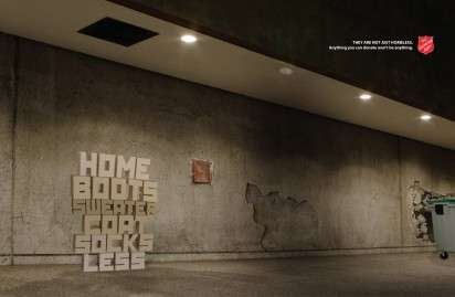 Typographic Homeless Ads