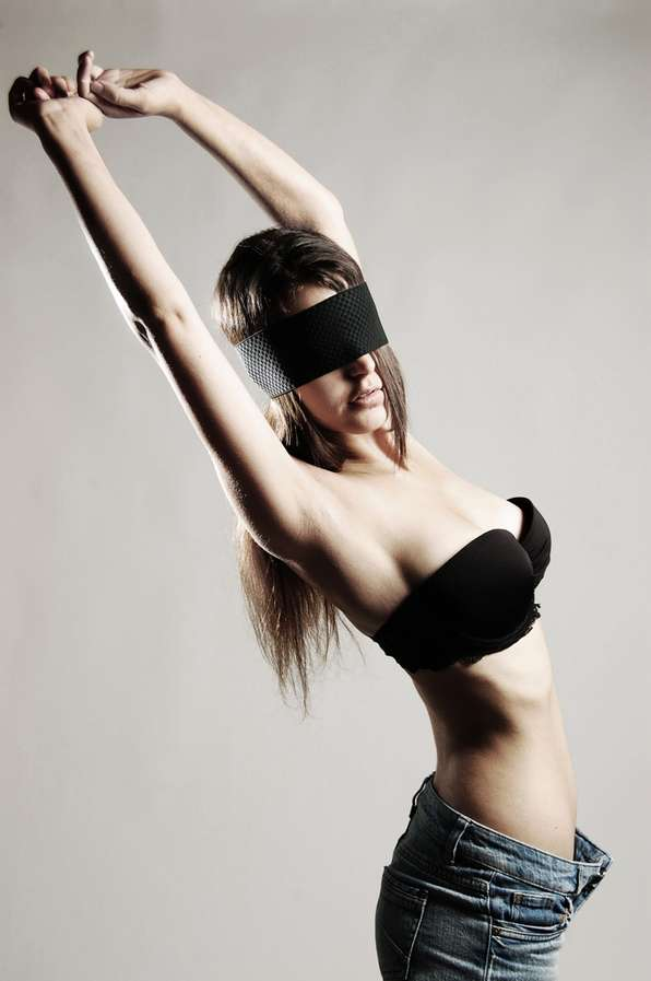 Seductive Blindfold Photography