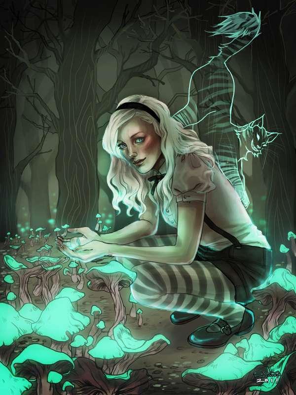 Lurid Lady Illustrations