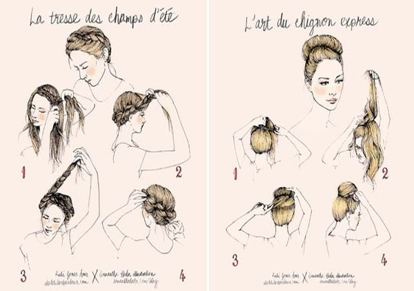 Elegantly Illustrated Hair Tutorials