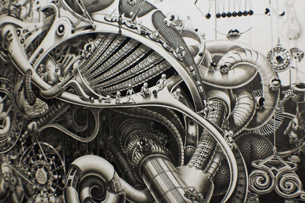 Intricate Graphite Murals