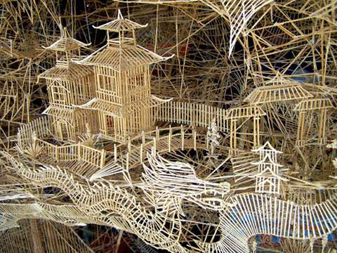 China Imperial City Out of Toothpicks