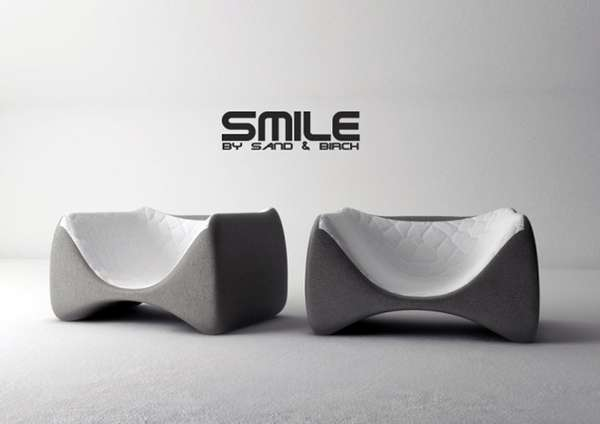 Sand and Birch Smile Chair