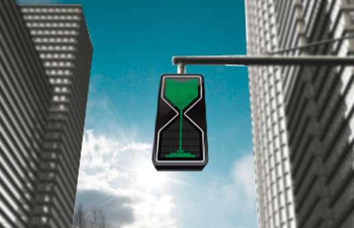 sand glass traffic lights