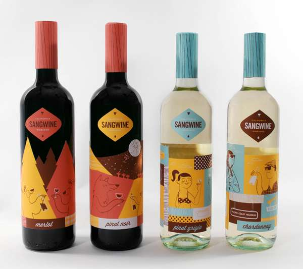Retro California Vino Branding