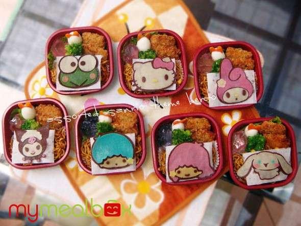 Cutesy Cartoon Lunch Boxes