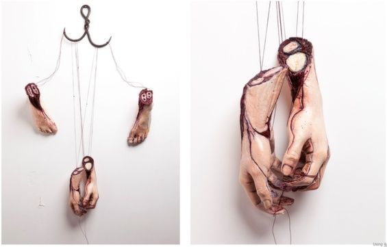 Gruesome Female Body Sculptures
