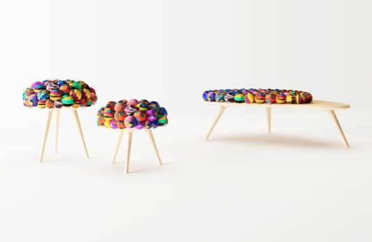 Multicolored Crocheted Seating