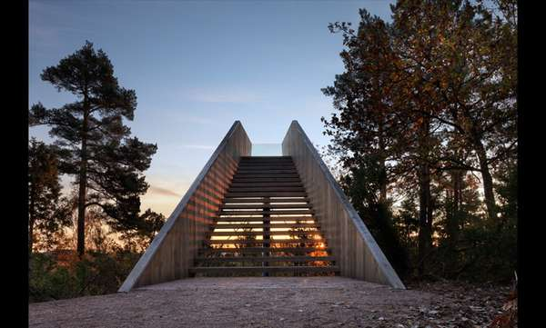 saunders architecture forest stair