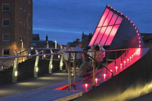 Futuristic Pivoting Footbridges