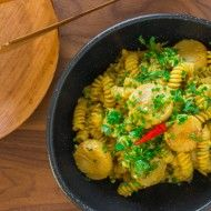 Seafood Curry Pasta
