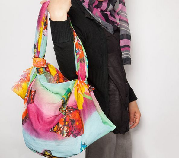 DIY Scarf Handbags