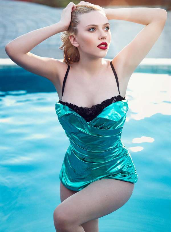 Shiny Aquamarine Swimwear