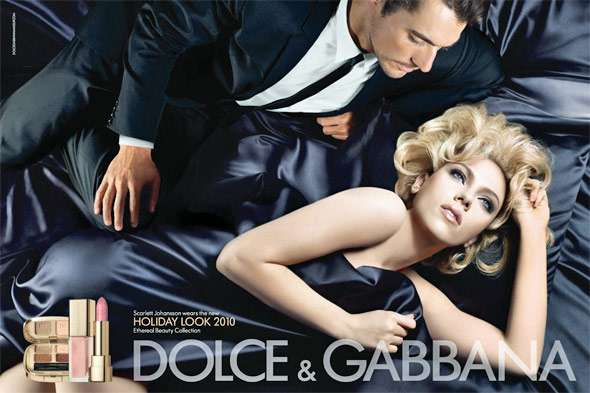 Scarlett Johansson Dolce and Gabbana Holiday 2010