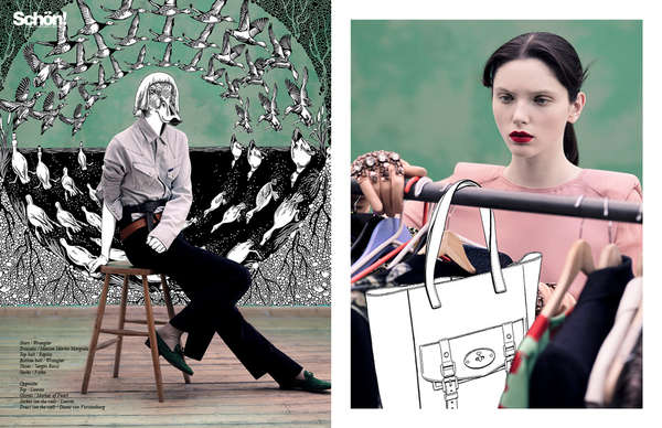 Illustrated Fashion Editorials