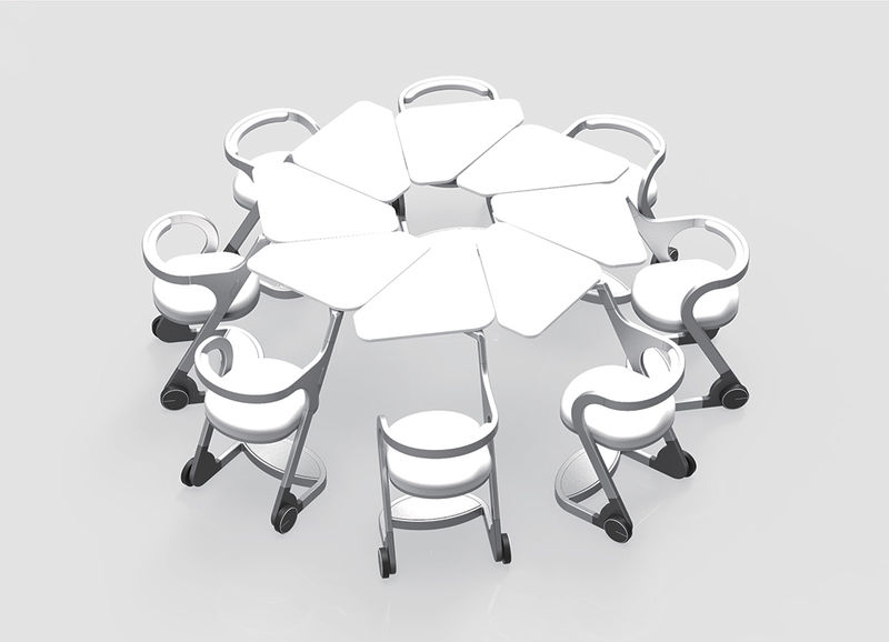 Futuristic School Desks