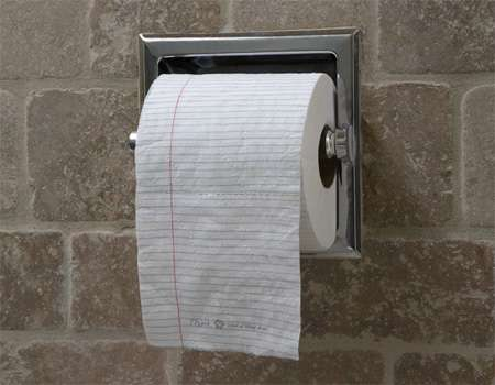College-Ruled Toilet Paper
