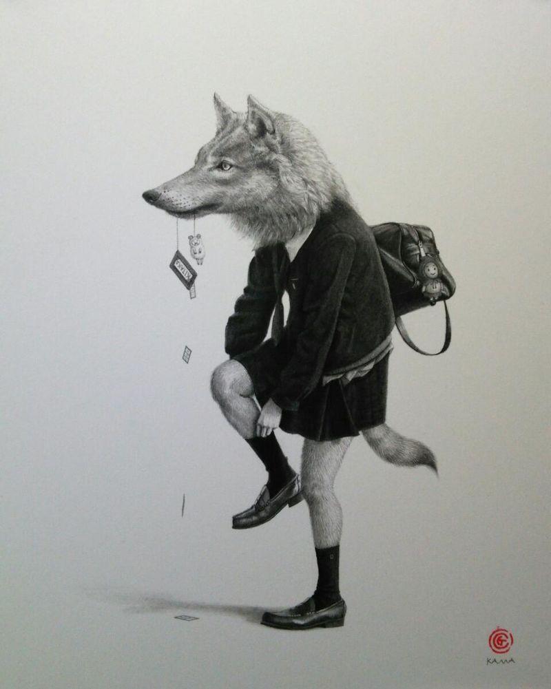 Wildlife Schoolgirl Portraits