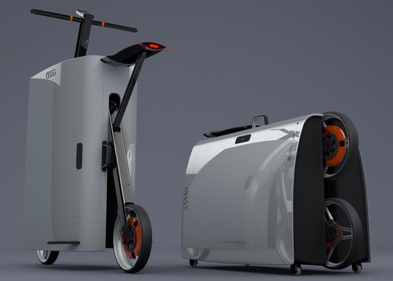 Motorized Scooter Suitcases Scooter Suitcase