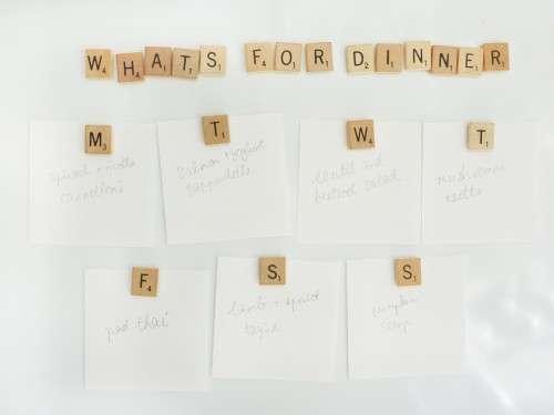 Word Score Fridge Stickers