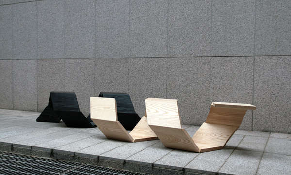Geometric Corkscrew Seating Screw It Bench