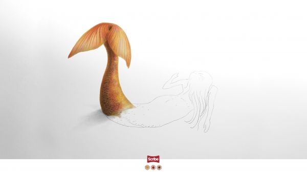 Mythical Creature Illustration Ads