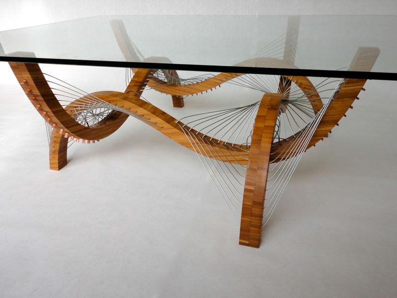 Undulating Bamboo Tables