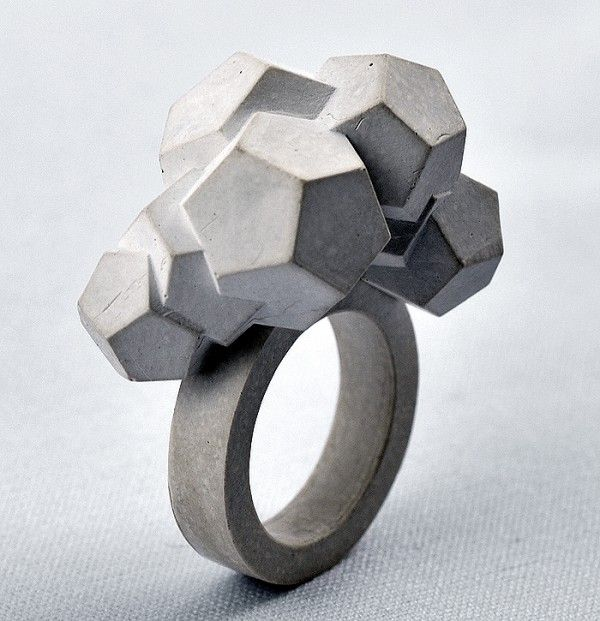 Sculptural Concrete Jewelry