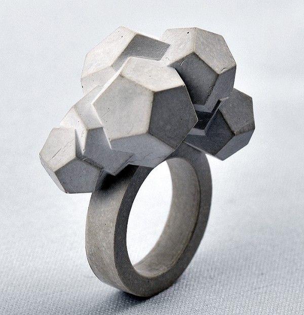 Sculptural Concrete Jewelry