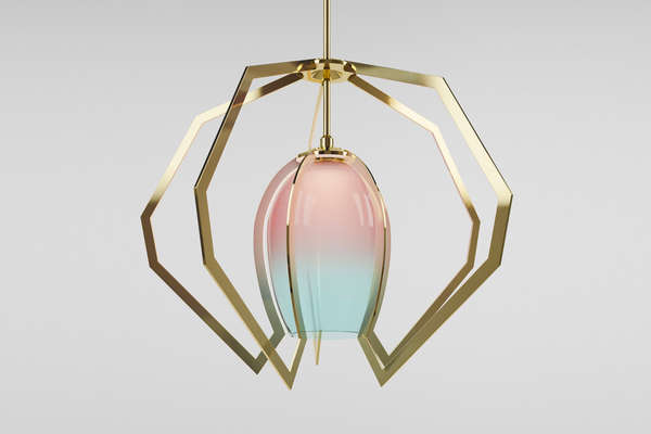 Sculptural Metallic Lighting