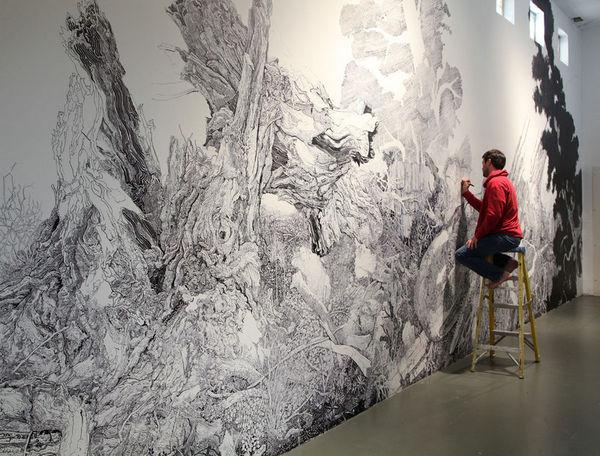 Sprawling Sharpie Murals
