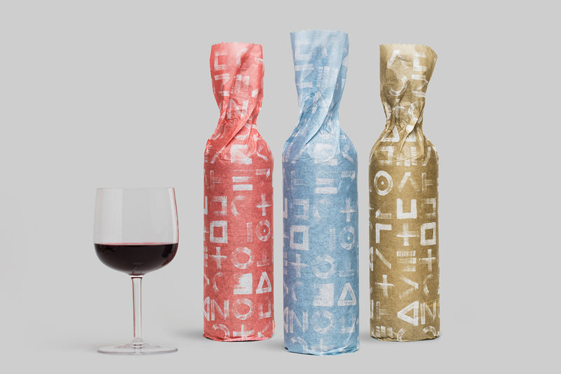 Paper-Packaged Wine Bottles