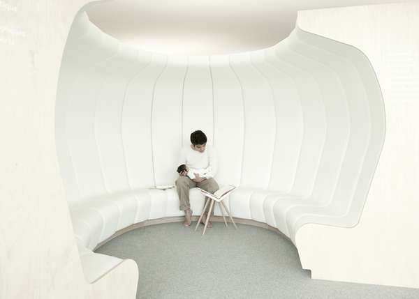Secluded Curving Bookcases