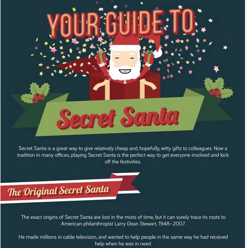 Secret Santa Idea Infographics