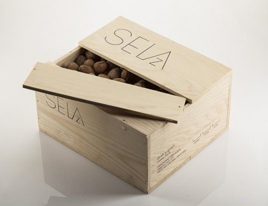 Wood Crate Walnut Branding