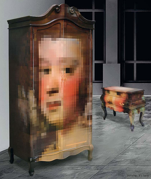 Pixelated Storage Furniture