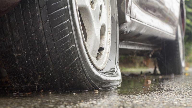 Self-Healing Rubber Tires