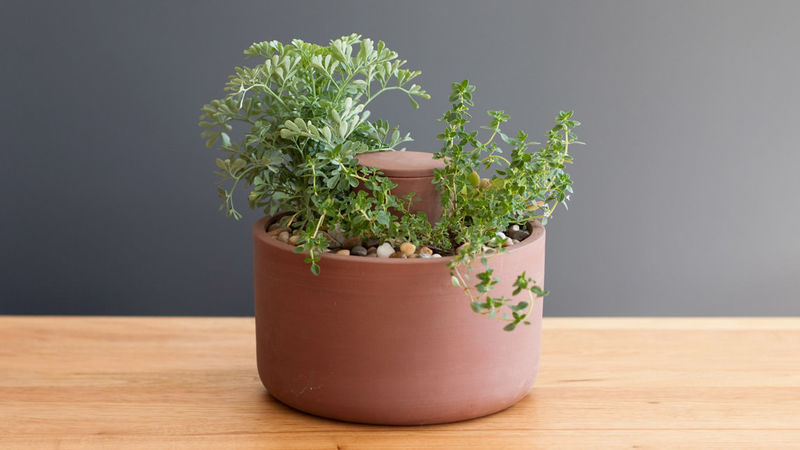 Irrigation-Inspired Planters