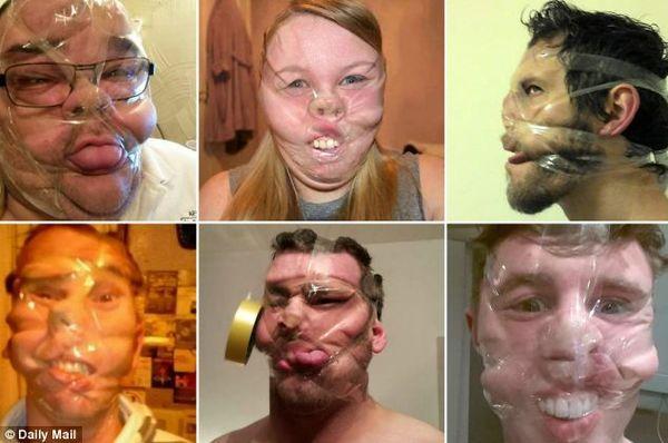 Deformed Taped-Up Selfies
