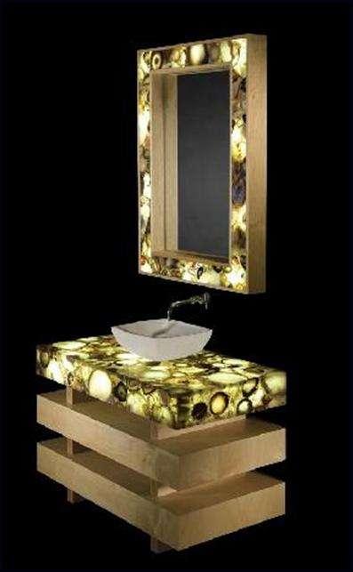 Semi-Precious Illuminated Counter Tops