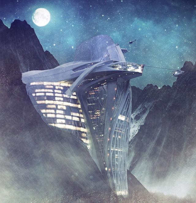 Futuristic Alpine Architecture