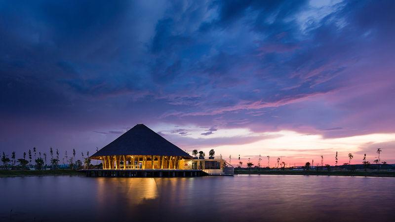 Parasol-Roofed Pavilions