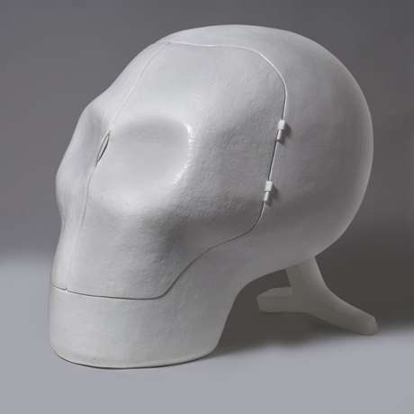 Sensory Deprivation Skull Chair by Atelier van Lieshout